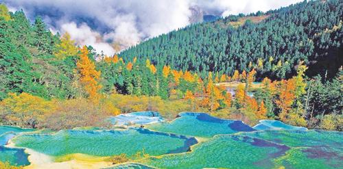 中国西部高清油画风景